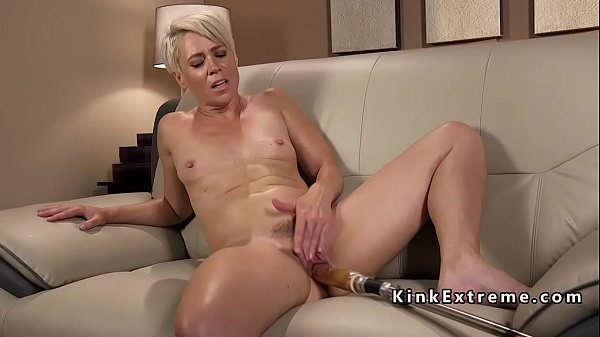 Machine, Mature blond, Blonde mature