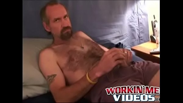 Hairy mature, Wanking